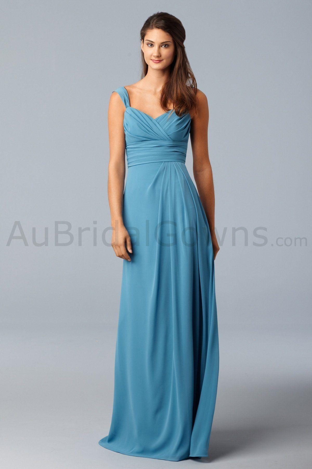 Chiffon Surplice Neck Cap Sleeves Floor-Length Bridesmaid Dress ...