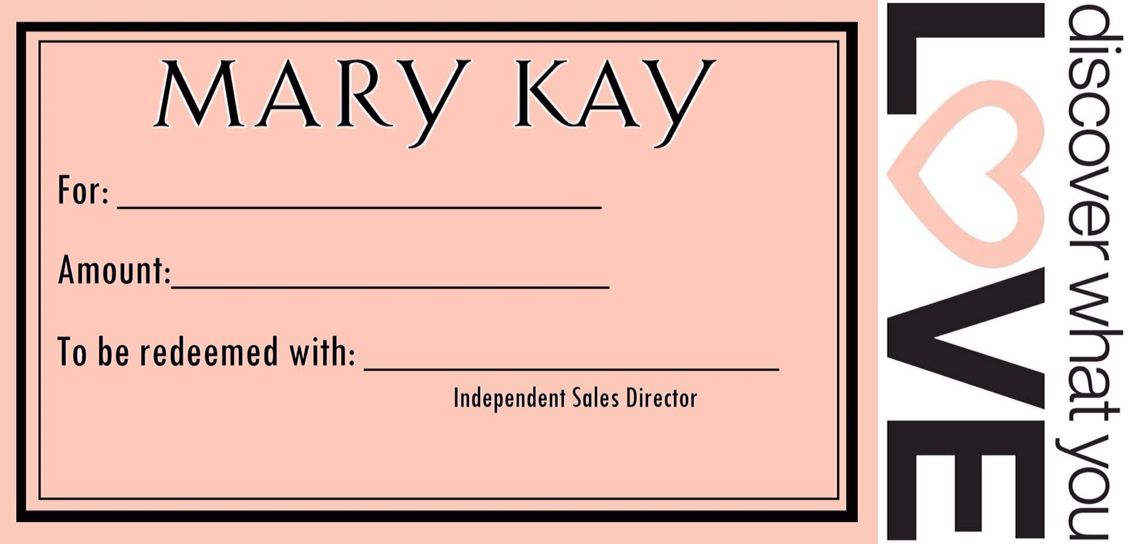 Not sure what to get, then give them a Mary Kay Gift Certificate - fresh younique gift certificate template