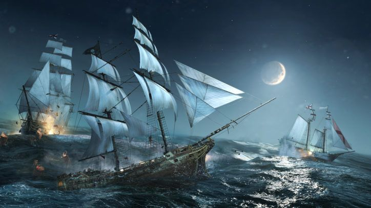 Pirate Ship In The Sea Wallpaper 1080p High Resolution
