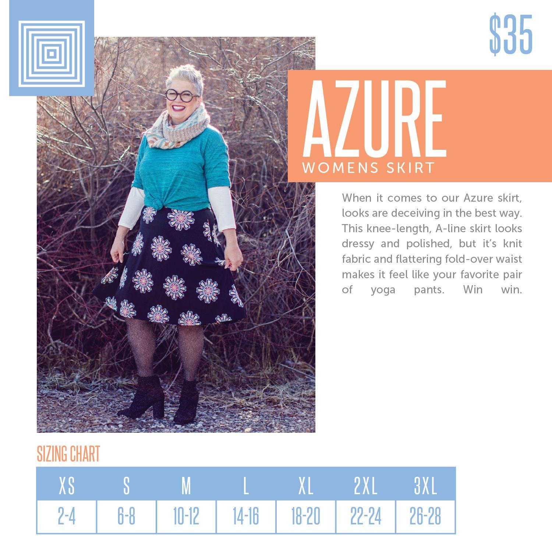 Lularoe Azure Sizing Chart 2018