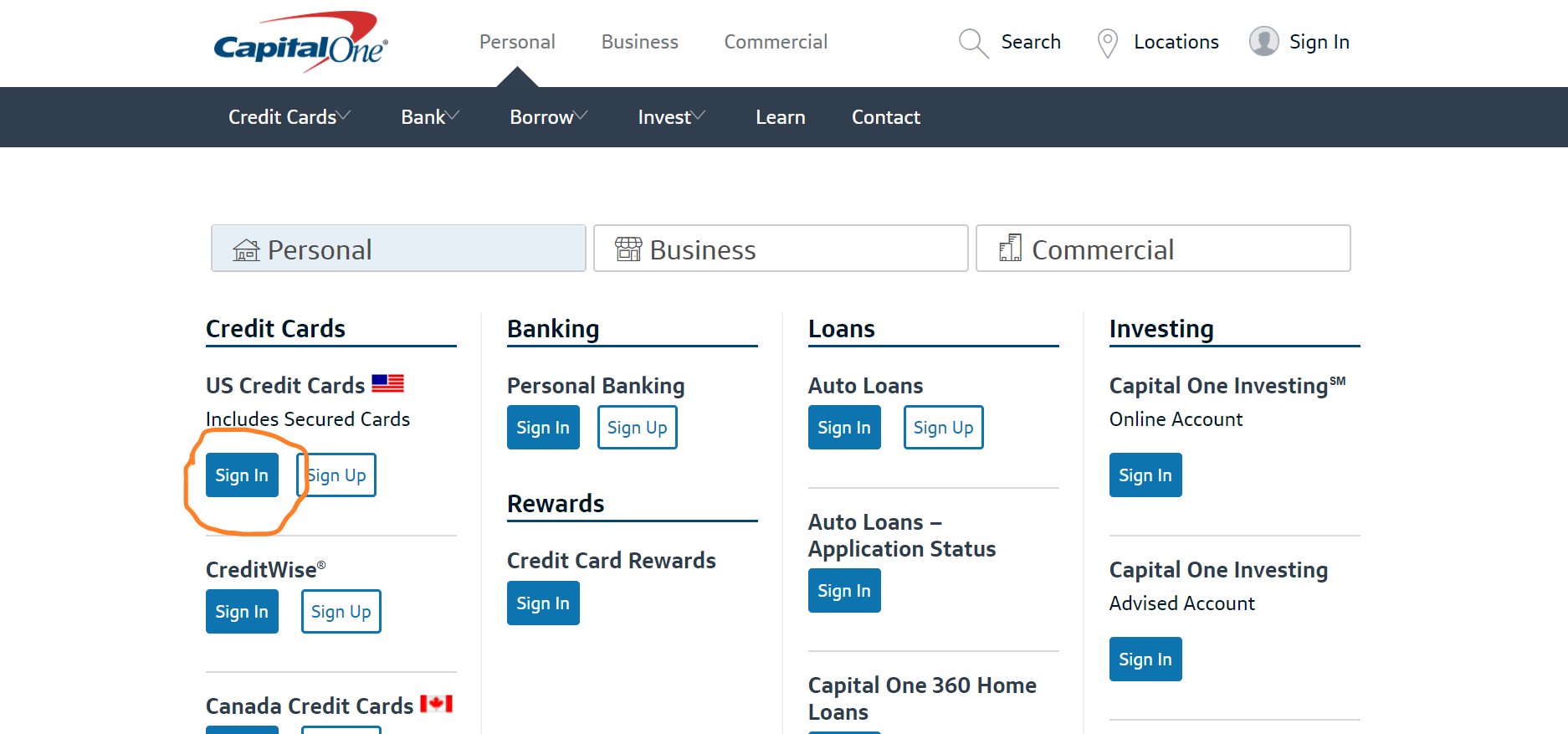 apply capital one credit card canada