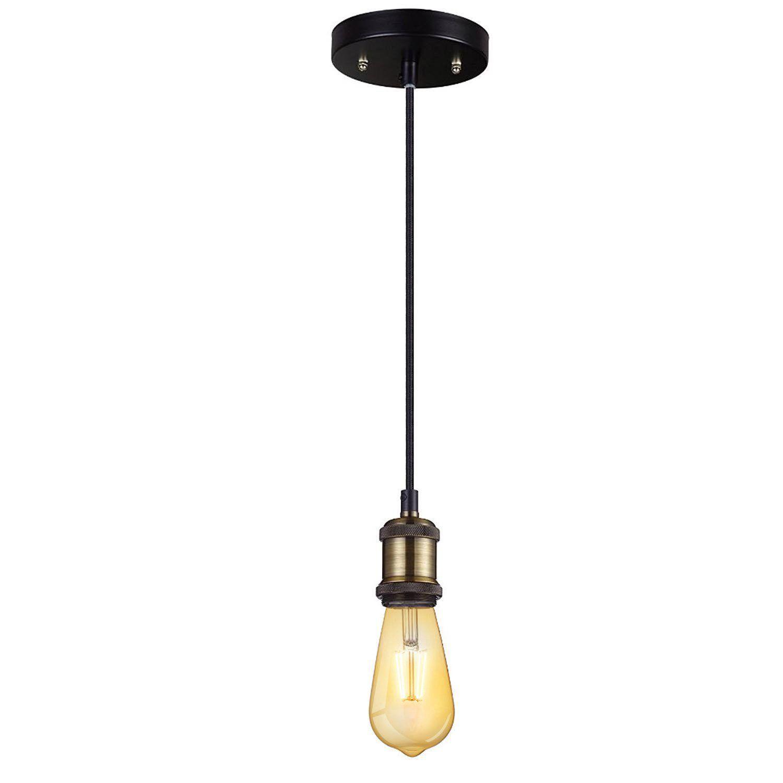 E26 E27 Vintage Copper Pendant Light Jackyled Effect Ceiling Hanging Textile Cord Lamp Holder Chandelier Pendant Light Cord Pendant Light Mini Pendant Lights
