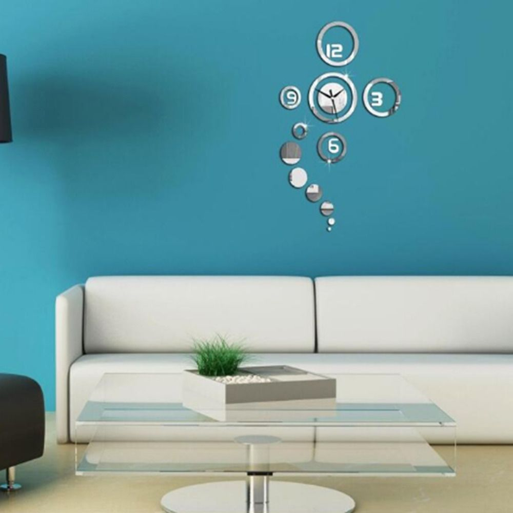 1Pc Modern 3D Home Decoration Wall Clock Modern Design Stickers Residence  Home Decor