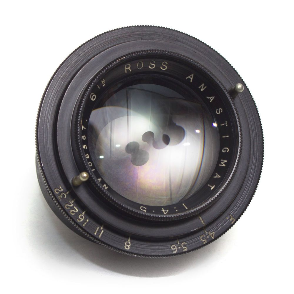 Ross 6 Inch 150mm F4 5 Anastigmat Large Format Wide Angle Lens Vintage Gc Vintage Lenses Wide Angle Lens Cameras For Sale