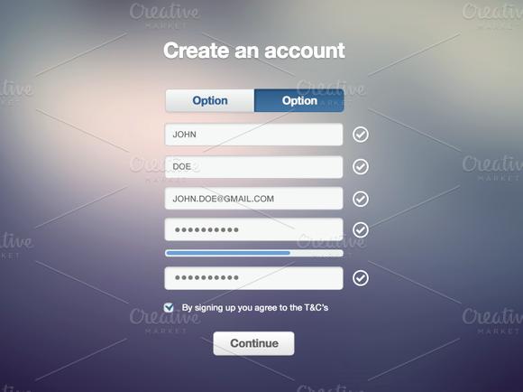 Registration form PSD | Registration form, Vector shapes and Ux design