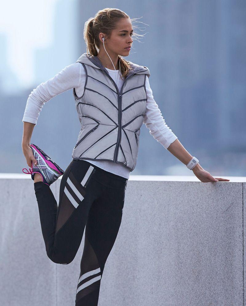 3e3ef458b2e3 Blanc Noir Mesh Inset Puffer Vest Reflective | Favor Style|Women ...