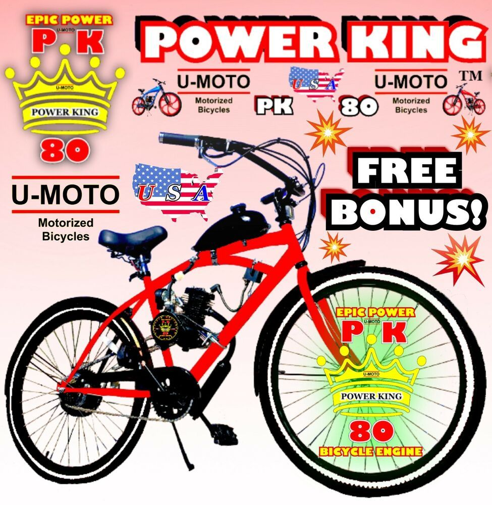 Details About 66cc 80cc 2 Stroke Motorized Bike Kit And 26