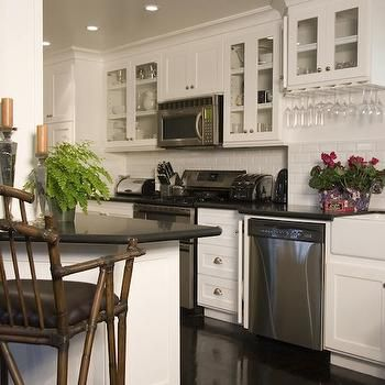 Built In Wine Rack, Transitional, kitchen, Maison Luxe Home | The ...
