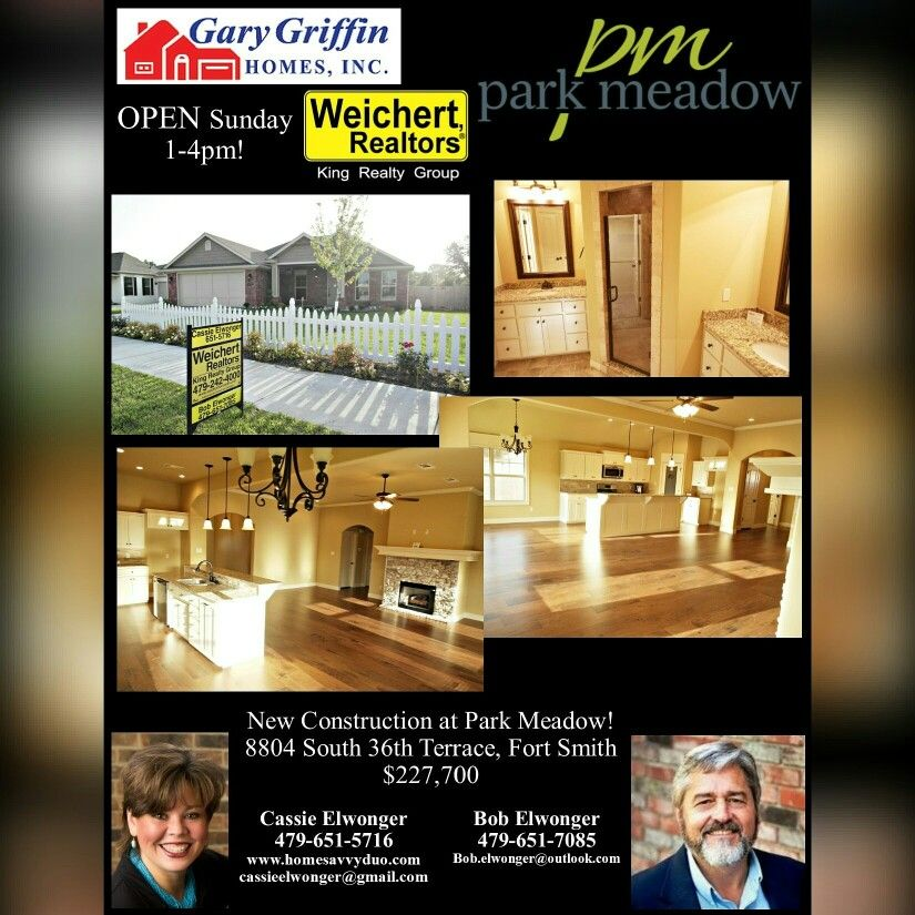 8804 south 36th Terrace, Fort Smith, Ar * located in the new Park Meadow neighborhood!