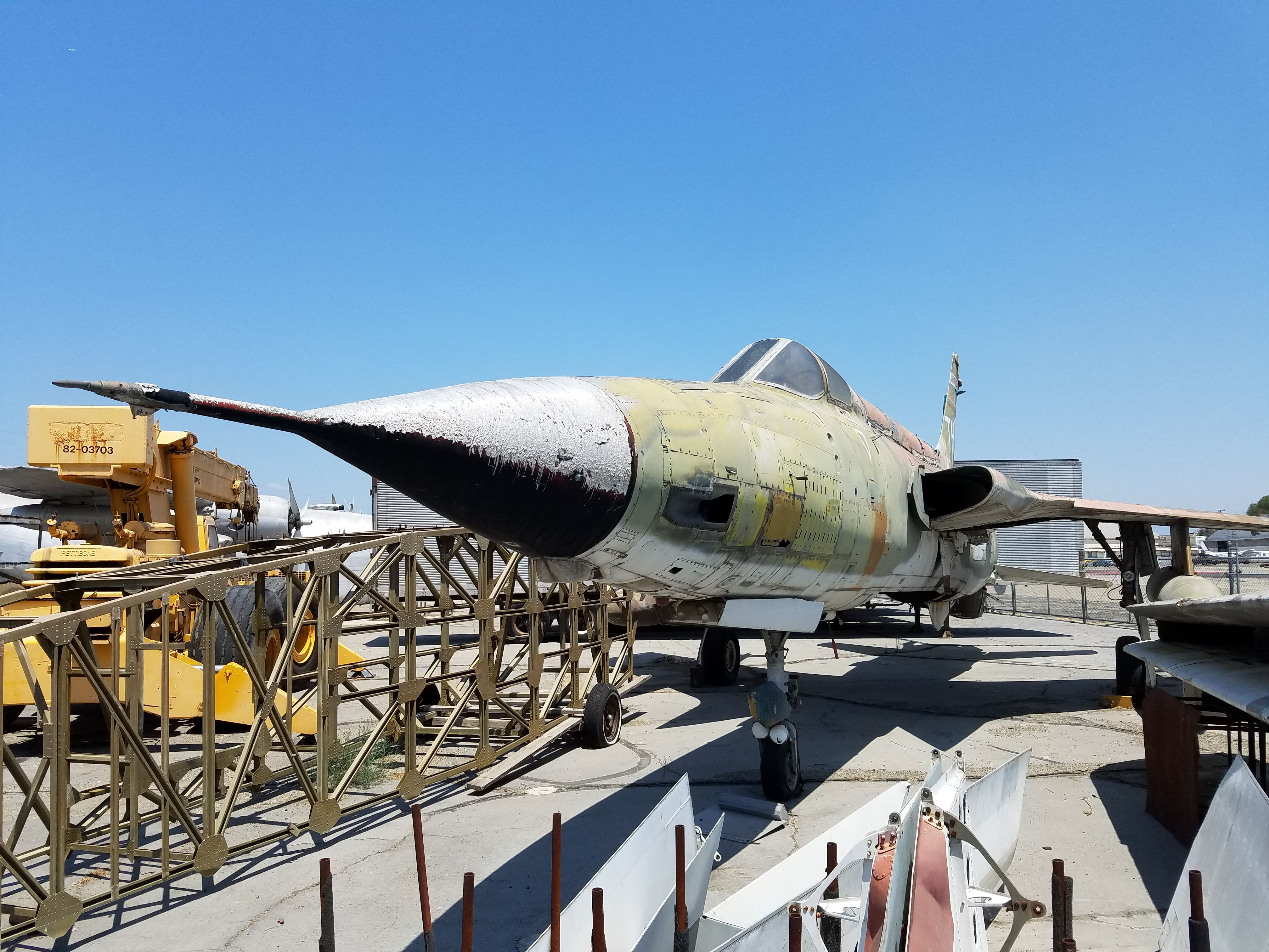 F105 from the boneyard at the Yanks Aircraft Museum in