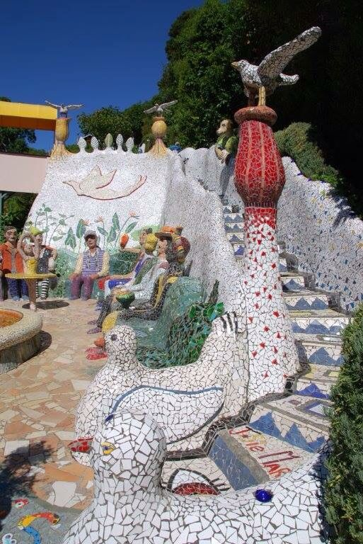 The Giant House by Josie Martin in New Zealand - filled with mosaic art.