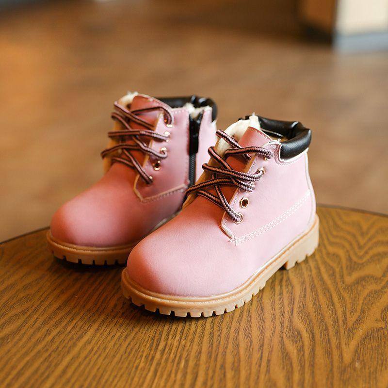 Enfant Chaussures Marque De Luxe Nouvelle Mode 2017 hiver Qualité Supérieure Coton Chaussure Enfant Plus Grande Taille 21-30 RGtJF1
