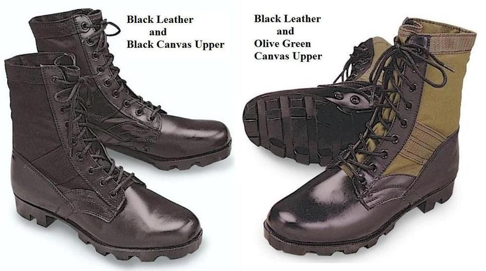 e8cbadd08a49 Vintage Style JUNGLE Military BOOTS US Army Marine Corps USMC USAF Combat  1-15  R  Military
