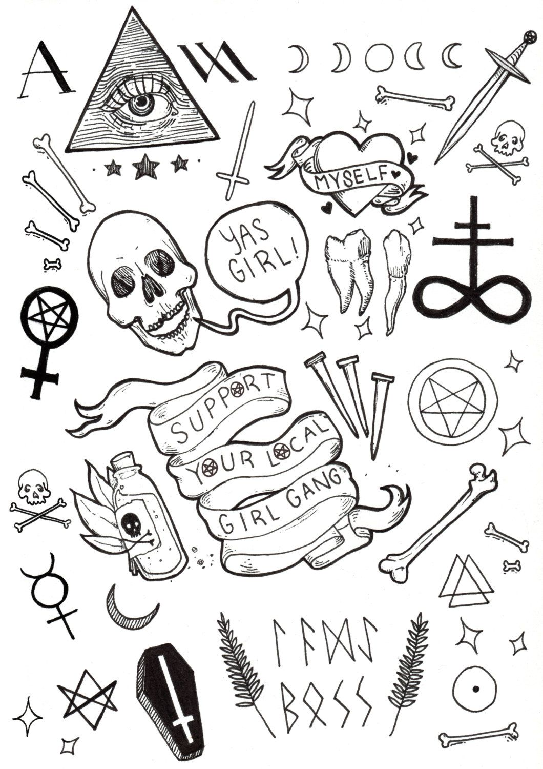 Pin By Pong On Skins Needles Coffin Tattoo Tattoo Flash Art Tattoo Drawings