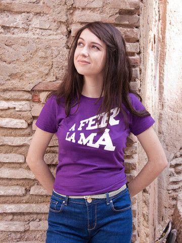 Camiseta A fer la mà negra mujer – Gnomo