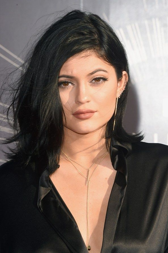 Kylie Jenner Wore Her Hair Swept Over To One Side To