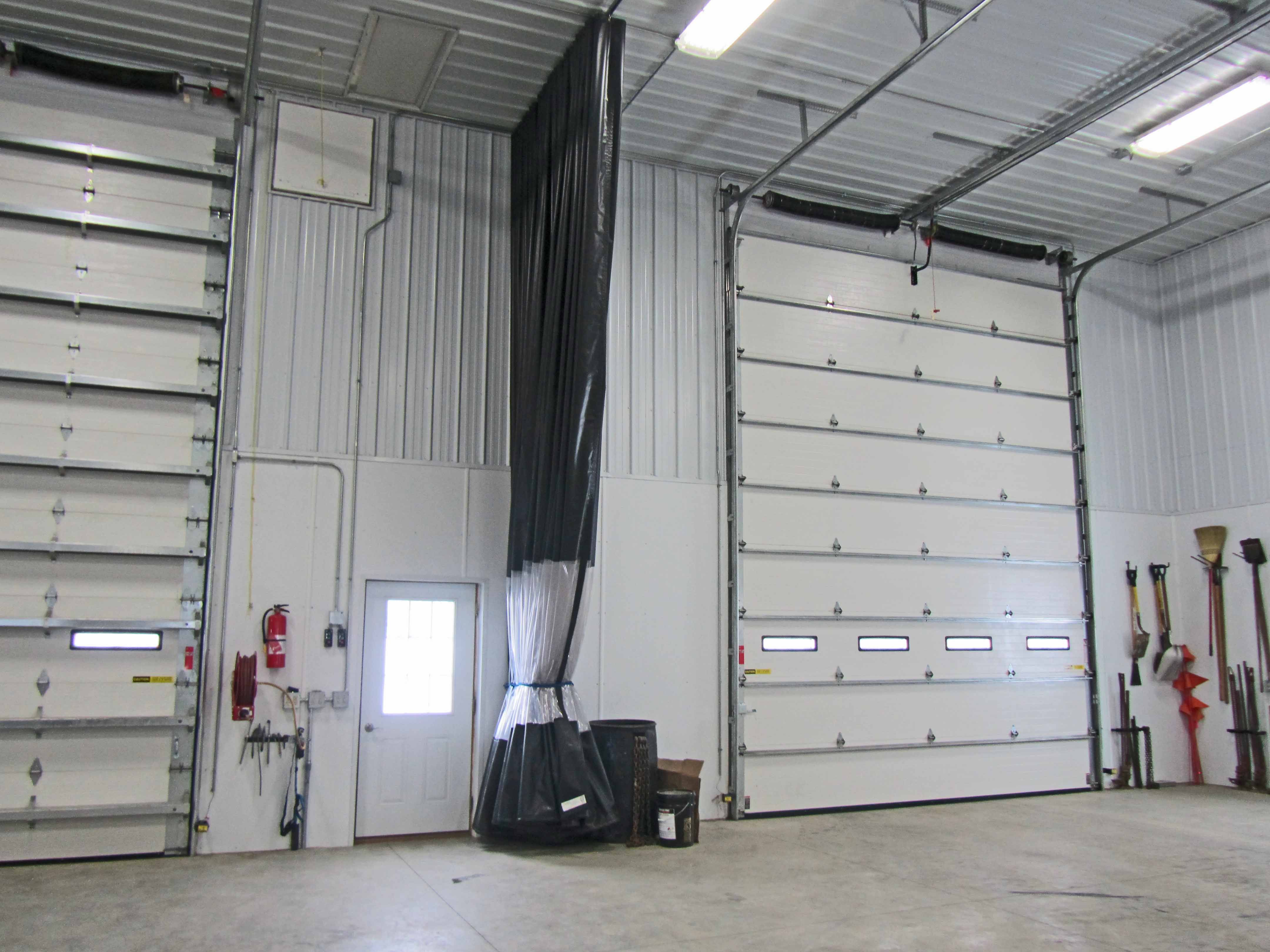 Inwash Bay Divider Curtain Used In Large Storage Facility