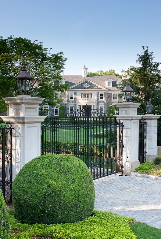 This Gated Entrance Belongs To The Stone Mansion Estate