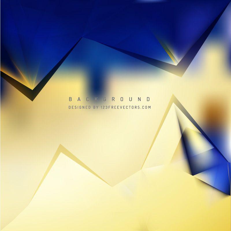 Blue Gold Geometric Triangle Background Design Background Design