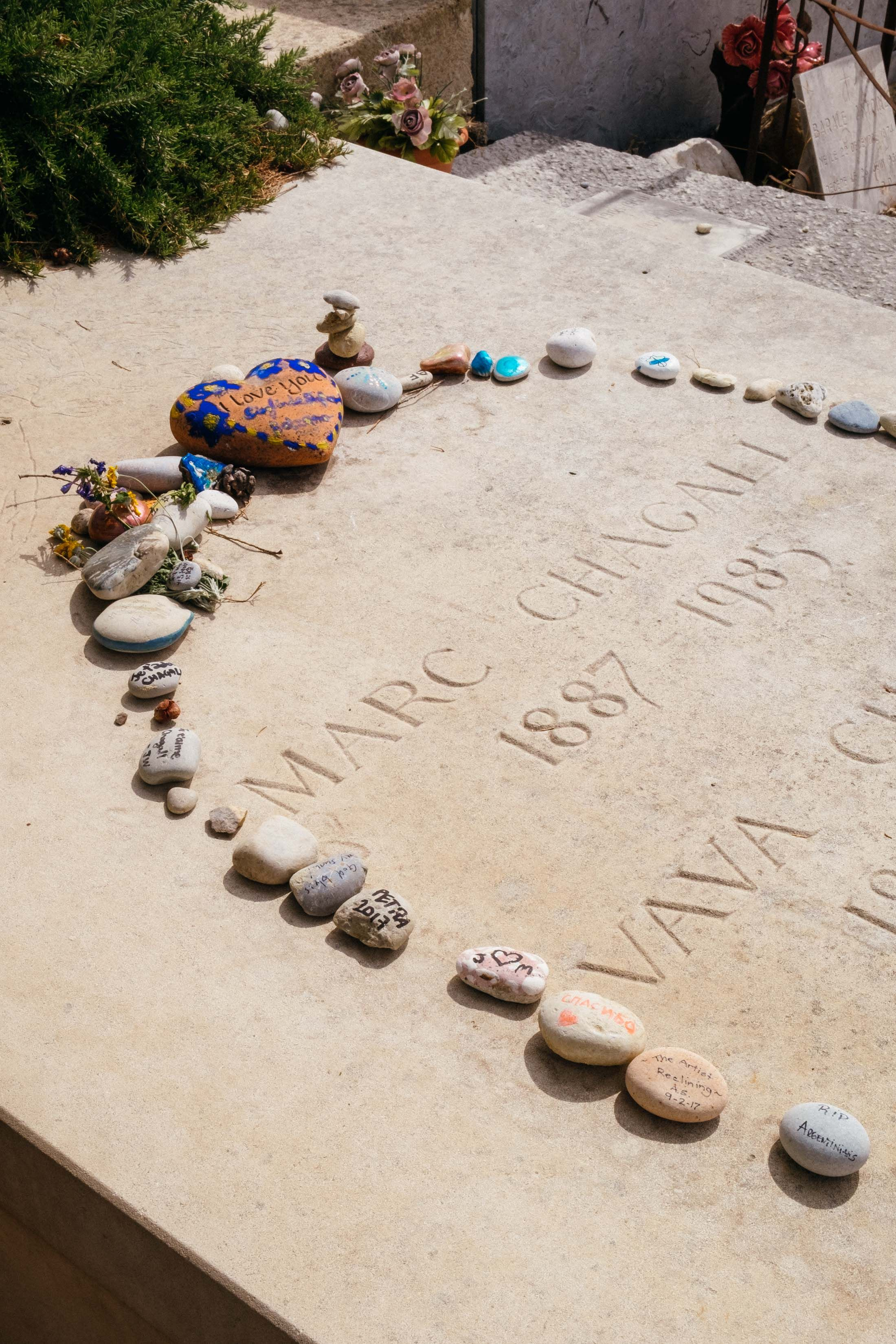 Image result for st paul de vence Marc Chagall's grave in the cemetery