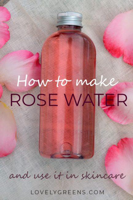 How to make Rose Water Toner using fresh Rose Petals • Lovely Greens