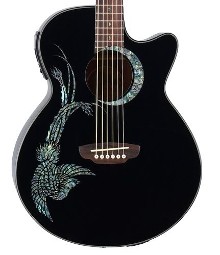 Painting on guitars google search crafts5 pinterest for Acoustic guitar decoration