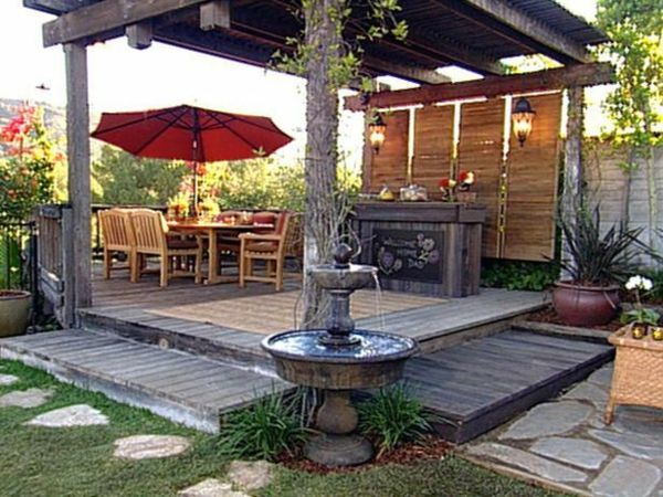 patio garten ideen pergola selbst bauen wassermerkmale sitzecke im, Garten Ideen