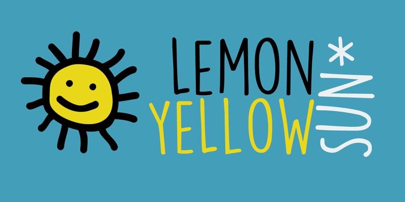DK Lemon Yellow Sun Schriftart | dafont.com
