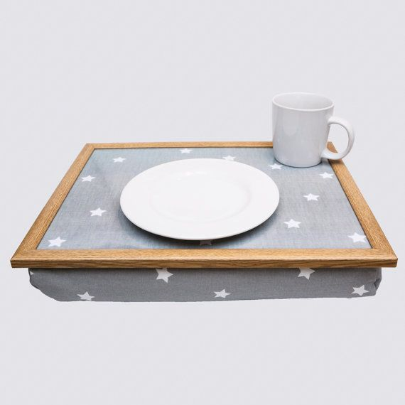 High Quality Soft Grey Stars Starry Bean Bag Beanbag Laptray Lap Tray Stable Table Bed Desk Serving Laptop Lap Tray Bean Bag Tray