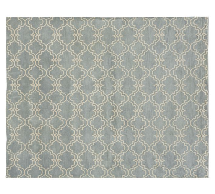 Diamond Basic Porcelain Blue Persian Style Wool Area Rug: Rugs, Rugs In Living