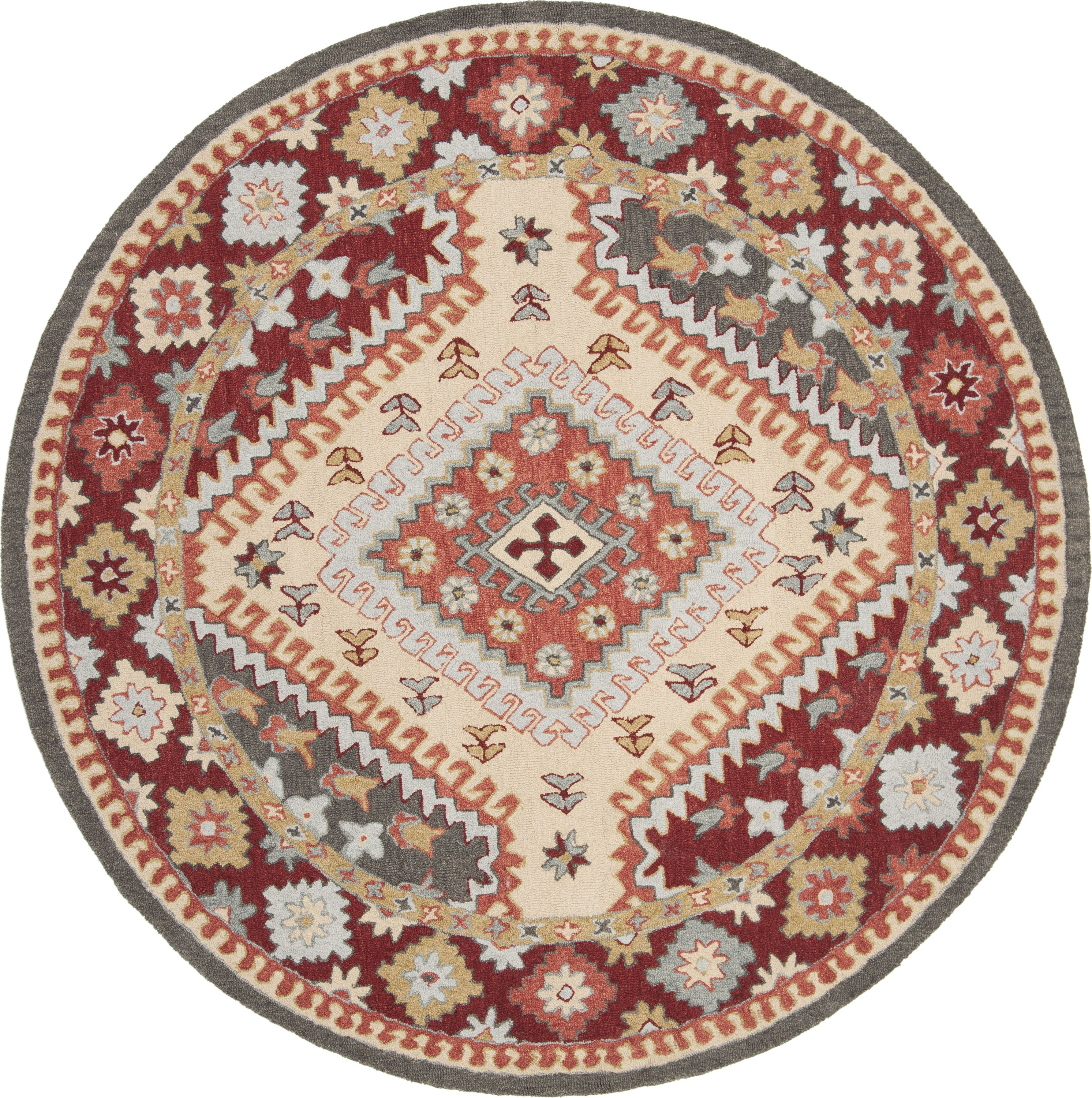 Apn801q Color Red Ivory Size 2 3 X 7 Southwestern Area