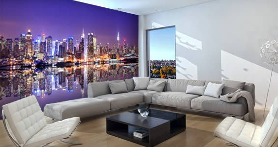 Manhattan Skylines wall murals Wall murals Manhattan skyline and