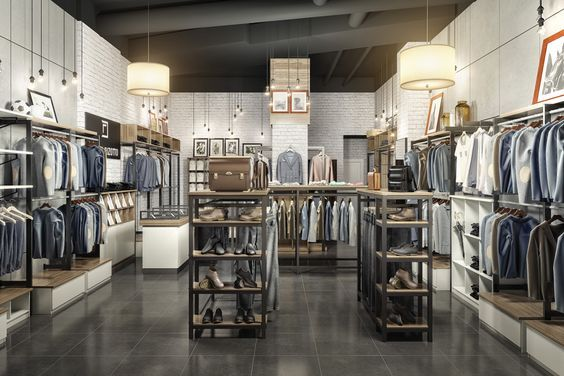 91023f36834 Дизайн интерьера магазина мужской одежды «DANIEL RIZOTTO» в ТРК «Меганом».  Дизайн
