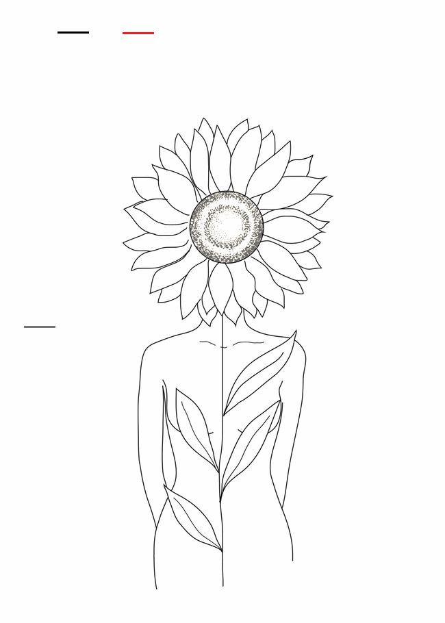 Garden Inspiration Abstraktezeichnungen In 2020 Sunflower Drawing Line Art Flowers Line Art Drawings