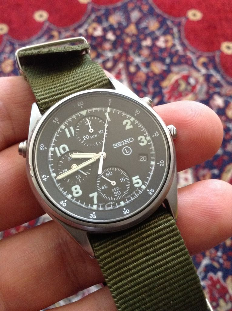 0abc79265d5 Swedish military watch SEIKO 7T27-7A20 A6 - A watch used by the Swedish air  force