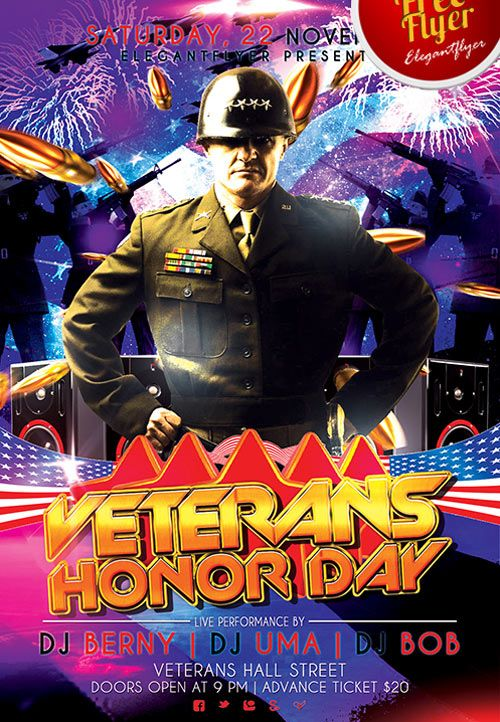 veterans day celebration free psd flyer template httpfreepsdflyercom