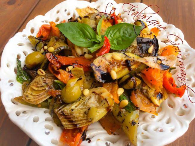 Salade légumes du soleil grillés