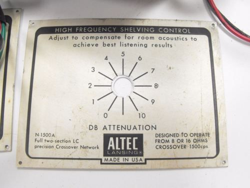 Altec Lansing 604E Super Duplex Speaker Pair + N-1500-A