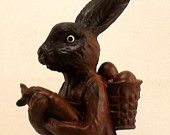 Easter Chocolate Rabbit Handcrafted Collectible Figurine