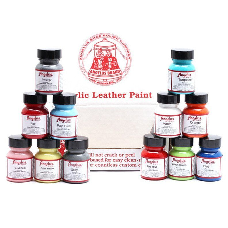 12 Color Assortment Kit | Painting leather, Painted shoes, Leather ...