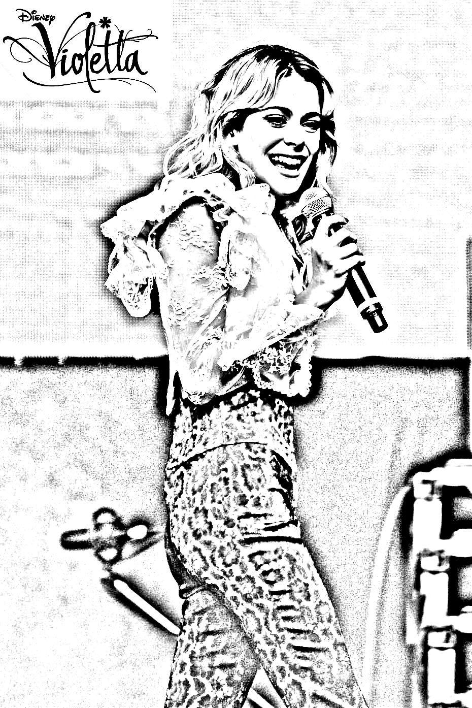 pour imprimer ce coloriage gratuit violetta blonde concert cliquez sur l - Coloriage Gratuit Violetta