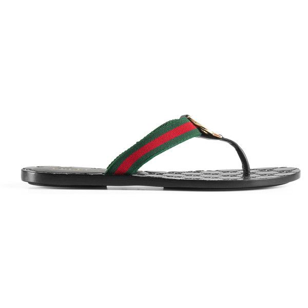 f96e19ef179054 Gucci Gg Thong Web Sandal ( 345) ❤ liked on Polyvore featuring shoes