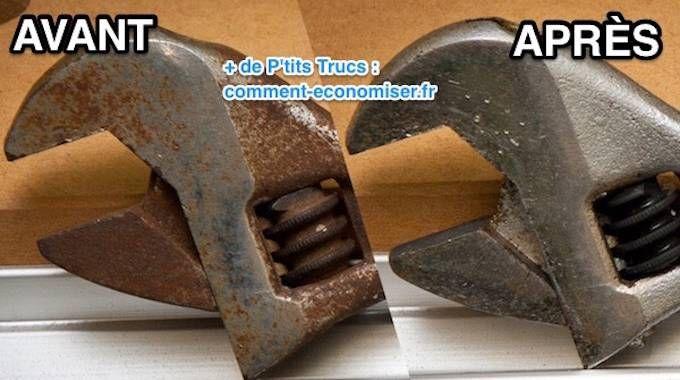 outils rouill s l 39 astuce efficace pour enlever la rouille sans frotter astuces enlever la. Black Bedroom Furniture Sets. Home Design Ideas