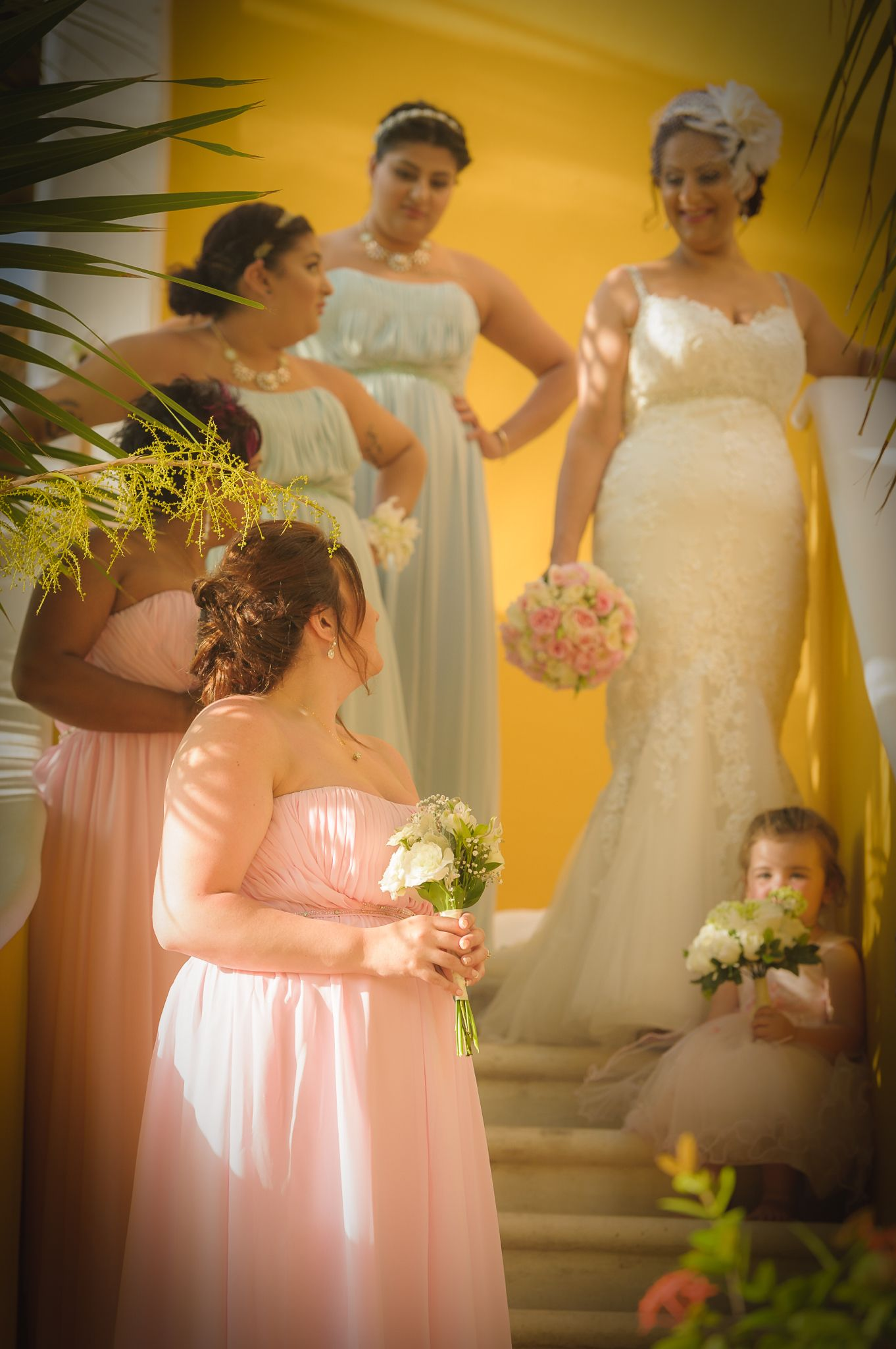 #weddingphoto #beachwedding #bridesmaiddresspink