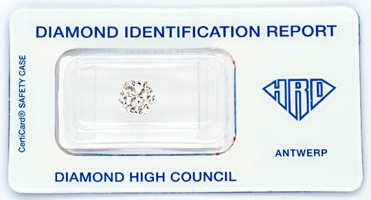 Foto 1, Super-Diamant 2,12ct VVS1 HRD Fire-Rose Hexagon Diamond, D5727