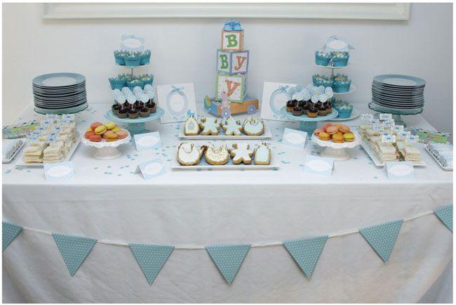 Mesas decoradas para baby shower para ni a imagui baby for Mesa dulce para baby shower