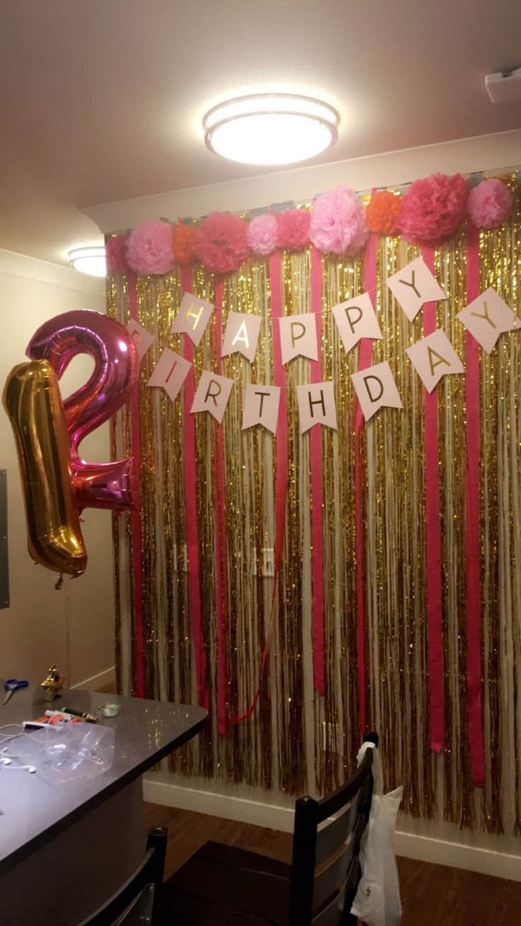 21st birthday wall all bought entirely on amazon for Room decor ideas for birthday