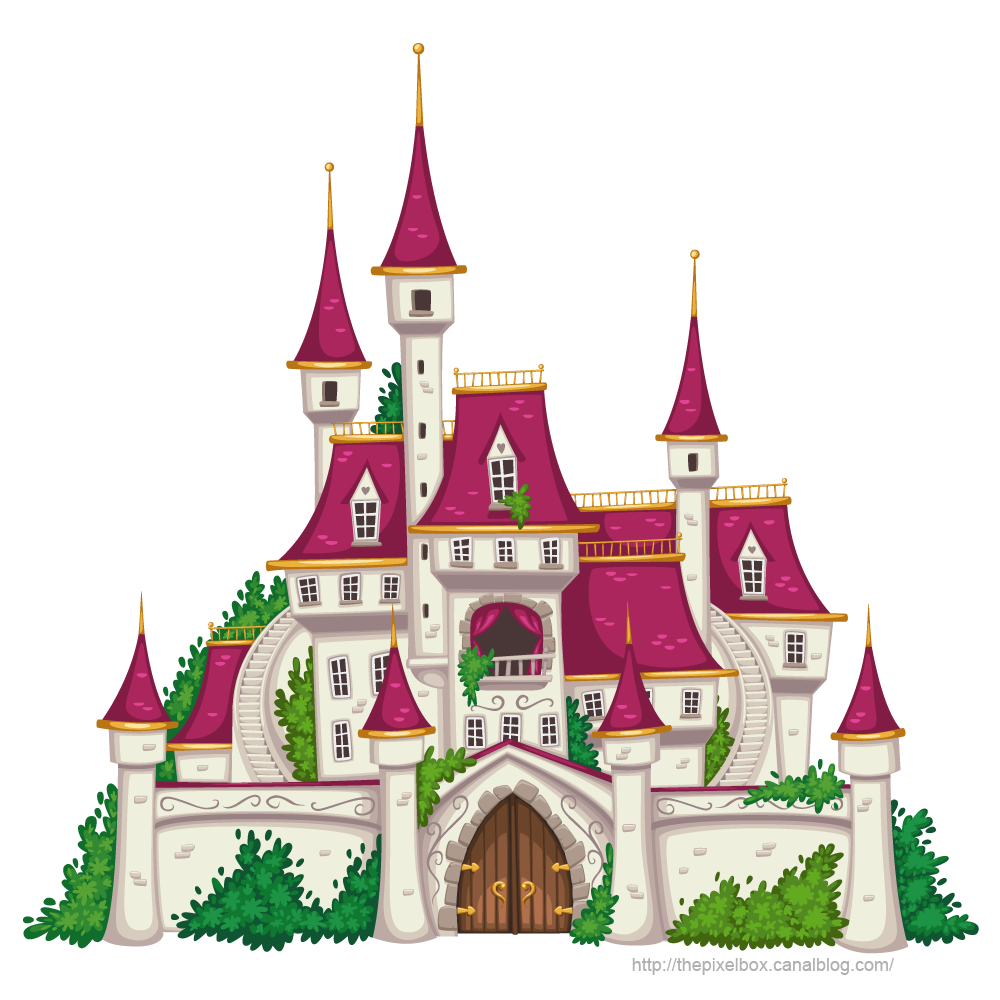 Pingl par cathy k sur coloriage chateau fort for Image chateau princesse
