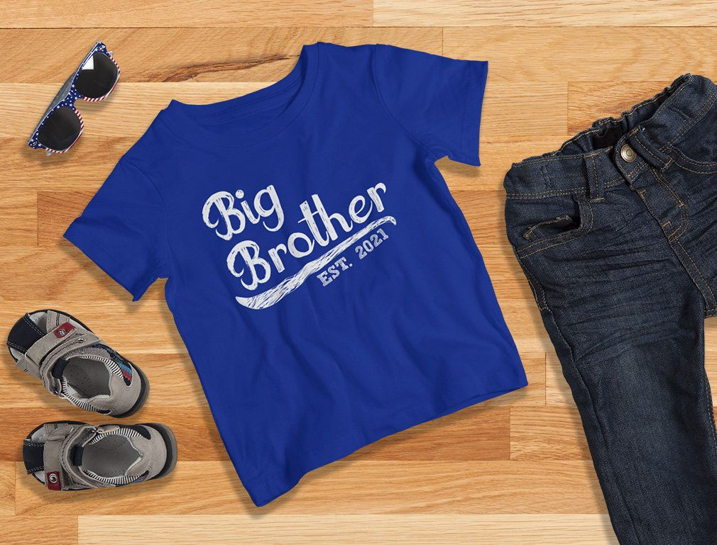 Gift for Big Brother 2021 Siblings Boys Toddler Kids T ...