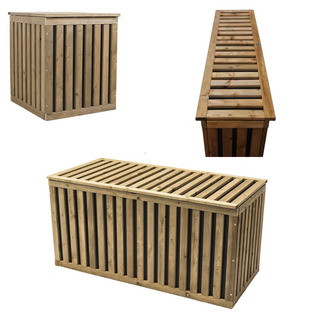 details zu auflagenbox holztruhe gartenbox kissenbox gartentruhe holz kunststoff hopstibox. Black Bedroom Furniture Sets. Home Design Ideas